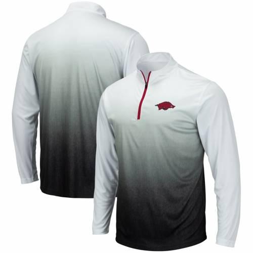 COLOSSEUM マジック チーム ロゴ 灰色 グレー グレイ メンズファッション コート ジャケット メンズ 【 Arkansas Razorbacks Magic Team Logo Quarter-zip Jacket - Gray 】 Gray