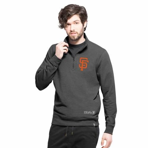 '47 ジャイアンツ 黒 ブラック メンズファッション コート ジャケット メンズ 【 San Francisco Giants React Quarter-zip Jacket - Black 】 Black