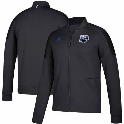 アディダス ADIDAS インパクト 黒 ブラック Z.n.e. メンズファッション コート ジャケット メンズ 【 Montreal Impact Anthem Full-zip Z.n.e. Jacket - Black 】 Black