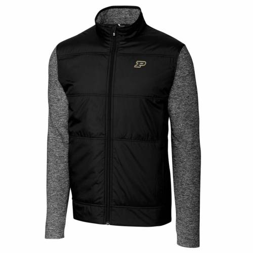 CUTTER & BUCK ステルス 黒 ブラック メンズファッション コート ジャケット メンズ 【 Purdue Boilermakers Cutter And Buck Stealth Full-zip Jacket - Black 】 Black