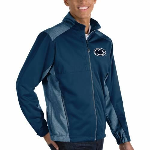 ANTIGUA スケートボード ライオンズ チャコール メンズファッション コート ジャケット メンズ 【 Penn State Nittany Lions Revolve Full-zip Jacket - Charcoal 】 Navy