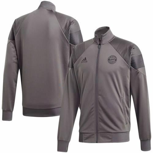 アディダス ADIDAS 灰色 グレー グレイ メンズファッション コート ジャケット メンズ 【 Bayern Munich Climalite Full-zip Jacket - Gray 】 Gray