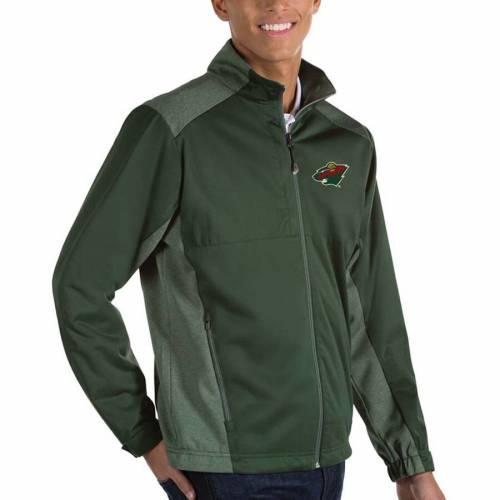 ANTIGUA ミネソタ ワイルド 黒 ブラック メンズファッション コート ジャケット メンズ 【 Minnesota Wild Revolve Ii Full Zip Jacket - Black 】 Green