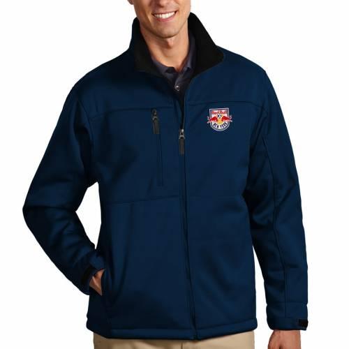ANTIGUA 赤 レッド ブルズ 紺 ネイビー メンズファッション コート ジャケット メンズ 【 New York Red Bulls Traverse Full Zip Jacket - Navy 】 Navy