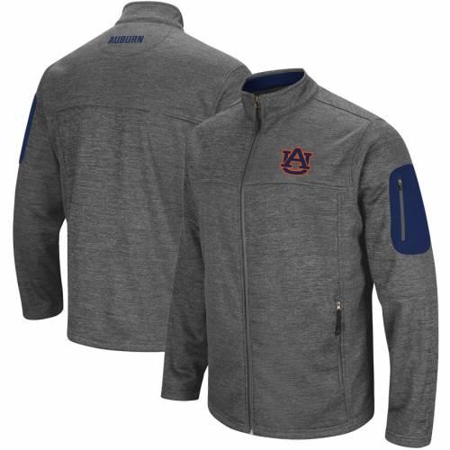 COLOSSEUM タイガース チャコール メンズファッション コート ジャケット メンズ 【 Auburn Tigers Anchor Full-zip Jacket - Charcoal 】 Charcoal