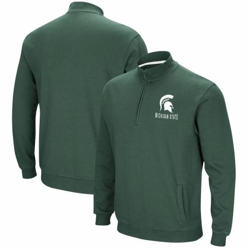 COLOSSEUM ミシガン スケートボード フリース 緑 グリーン メンズファッション コート ジャケット メンズ 【 Michigan State Spartans Big And Tall Playbook Fleece Quarter-zip Pullover Jacket - Green 】 Green