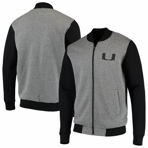 G-III SPORTS BY CARL BANKS マイアミ メンズファッション コート ジャケット メンズ 【 Miami Hurricanes Midfield Transitional Full-zip Jacket - Gray/black 】 Gray/black