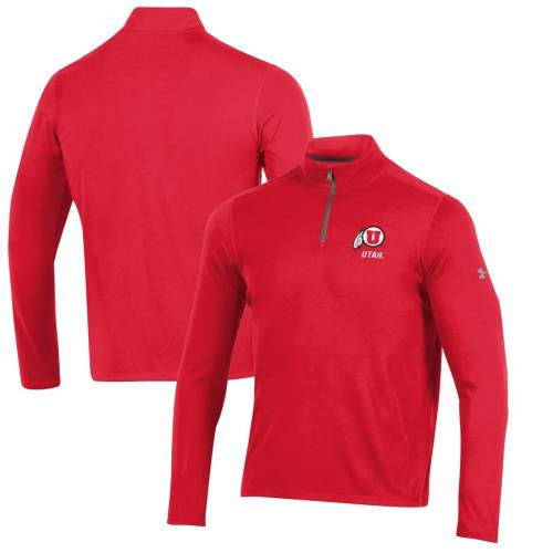 アンダーアーマー UNDER ARMOUR ユタ 赤 レッド メンズファッション コート ジャケット メンズ 【 Utah Utes Threadborne Quarter-zip Jacket - Red 】 Red