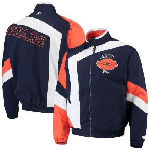 スターター STARTER シカゴ ベアーズ メンズファッション コート ジャケット メンズ 【 Chicago Bears Throwback Star Full-zip Jacket - Navy/white 】 Navy/white
