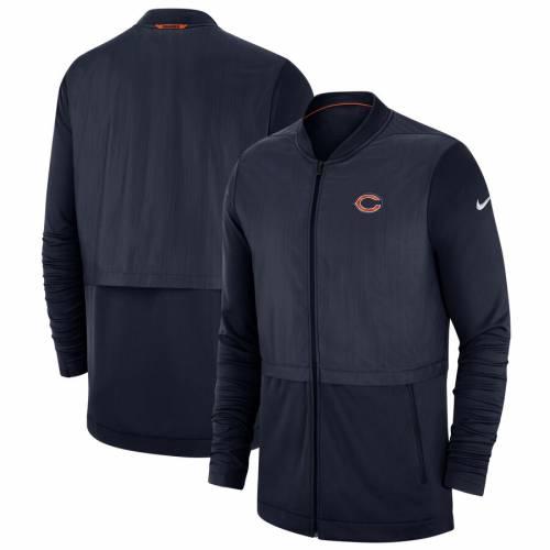 ナイキ NIKE シカゴ ベアーズ サイドライン エリート ハイブリッド 紺 ネイビー メンズファッション コート ジャケット メンズ 【 Chicago Bears Sideline Elite Hybrid Full-zip Jacket - Navy 】 Navy