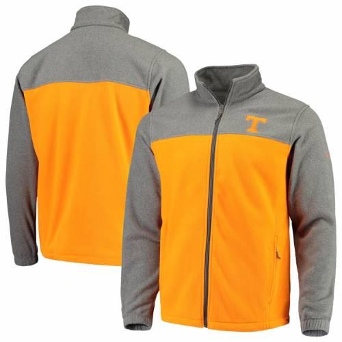 コロンビア COLUMBIA テネシー フリース チーム 橙 オレンジ メンズファッション コート ジャケット メンズ 【 Tennessee Volunteers Flanker Iii Fleece Team Full-zip Jacket - Charcoal/tennessee Orange 】 Charcoal/