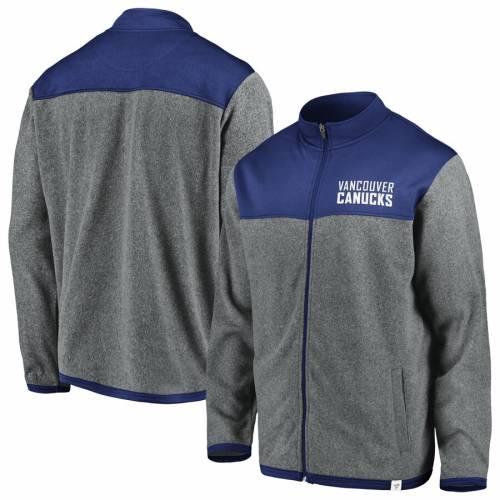 FANATICS BRANDED ポーラー メンズファッション コート ジャケット メンズ 【 Vancouver Canucks Polar Full-zip Jacket - Gray/blue 】 Gray/blue