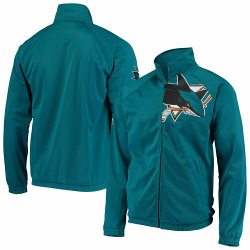 G-III SPORTS BY CARL BANKS トラック メンズファッション コート ジャケット メンズ 【 San Jose Sharks Synergy Full-zip Track Jacket - Teal 】 Teal