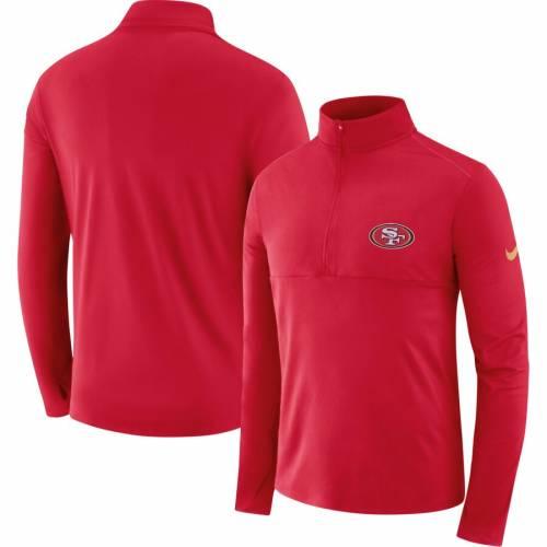 ナイキ NIKE フォーティーナイナーズ ギア エレメント パフォーマンス メンズファッション コート ジャケット メンズ 【 San Francisco 49ers Fan Gear Element Half-zip Performance Jacket - Scarlet 】 Scarlet