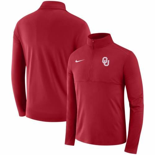 ナイキ NIKE メンズファッション コート ジャケット メンズ 【 Oklahoma Sooners Quarter-zip Jacket - Crimson 】 Crimson