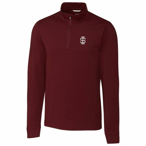 CUTTER & BUCK イリノイ カレッジ メンズファッション コート ジャケット メンズ 【 Southern Illinois Salukis Cutter And Buck Big And Tall College Vault Advantage Tri-blend Quarter-zip Pullover Jacket - Maroon 】 Maroon