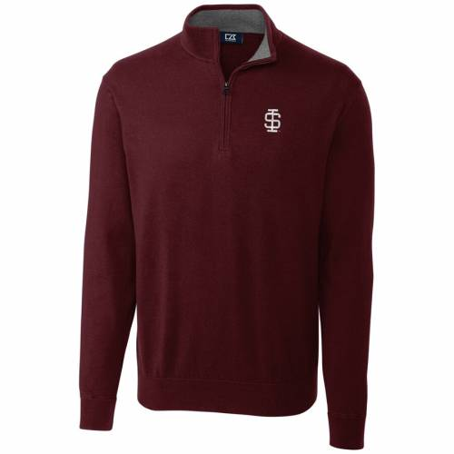 CUTTER & BUCK イリノイ カレッジ メンズファッション コート ジャケット メンズ 【 Southern Illinois Salukis Cutter And Buck Big And Tall College Vault Lakemont Tri-blend Half-zip Pullover Jacket - Maroon 】 Maroon