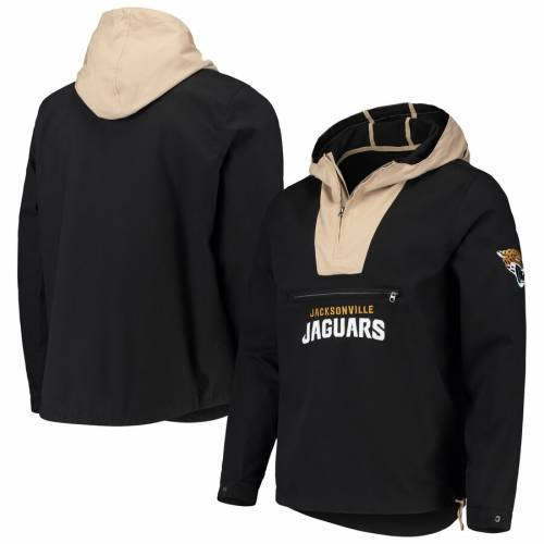 G-III SPORTS BY CARL BANKS ジャクソンビル ジャガース メンズファッション コート ジャケット メンズ 【 Jacksonville Jaguars Expedition Anorak Half-zip Pullover Jacket - Black/khaki 】 Black/khaki