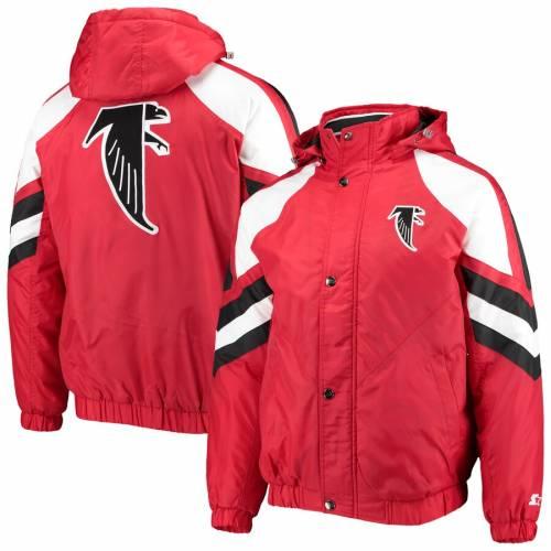 スターター STARTER アトランタ ファルコンズ プロ 赤 レッド メンズファッション コート ジャケット メンズ 【 Atlanta Falcons Throwback Pro Full-zip Jacket - Red 】 Red