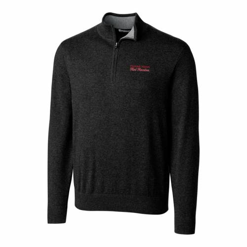 CUTTER & BUCK テキサス テック 赤 レッド レイダース ロゴ 黒 ブラック メンズファッション コート ジャケット メンズ 【 Texas Tech Red Raiders Cutter And Buck Lakemont Vault Logo 1/2-zip Jacket - Black 】