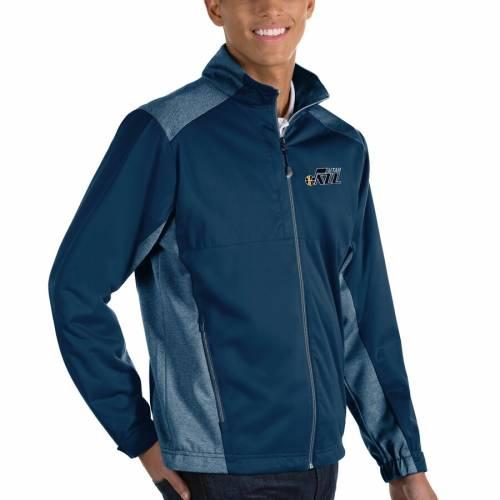 ANTIGUA ユタ ジャズ チャコール メンズファッション コート ジャケット メンズ 【 Utah Jazz Revolve Full-zip Jacket - Charcoal 】 Navy