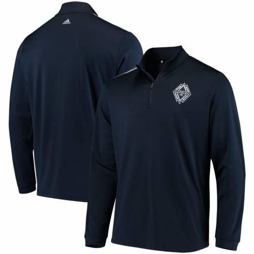 アディダス ADIDAS ストライプ 紺 ネイビー メンズファッション コート ジャケット メンズ 【 Vancouver Whitecaps Fc Three Stripe Quarter-zip Pullover Jacket - Navy 】 Navy