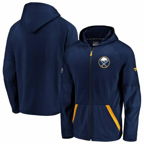 FANATICS BRANDED バッファロー ラグラン 紺 ネイビー メンズファッション コート ジャケット メンズ 【 Buffalo Sabres Rinkside Grid-back Raglan Full-zip Jacket - Navy 】 Navy