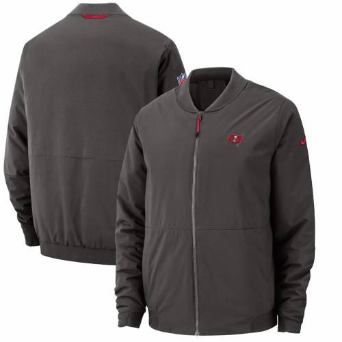 ナイキ NIKE バッカニアーズ サイドライン メンズファッション コート ジャケット メンズ 【 Tampa Bay Buccaneers Sideline Bomber Full-zip Jacket - Pewter 】 Pewter
