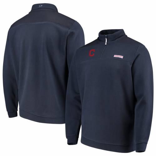 VINEYARD VINES クリーブランド インディアンズ 紺 ネイビー メンズファッション コート ジャケット メンズ 【 Cleveland Indians Shep Shirt Quarter-zip Pullover Jacket - Navy 】 Navy