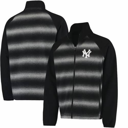 G-III SPORTS BY CARL BANKS ヤンキース 黒 ブラック メンズファッション コート ジャケット メンズ 【 New York Yankees Discovery Full-zip Jacket - Black 】 Black