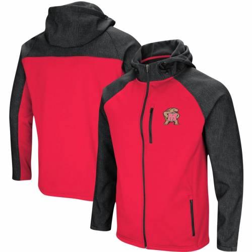 COLOSSEUM メリーランド 赤 レッド Hut! メンズファッション コート ジャケット メンズ 【 Maryland Terrapins Hut! Full-zip Jacket - Red 】 Red