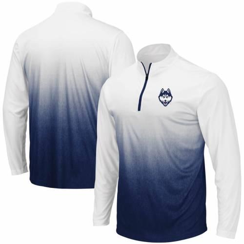 COLOSSEUM コネチカット マジック チーム ロゴ 灰色 グレー グレイ メンズファッション コート ジャケット メンズ 【 Uconn Huskies Magic Team Logo Quarter-zip Jacket - Gray 】 Navy