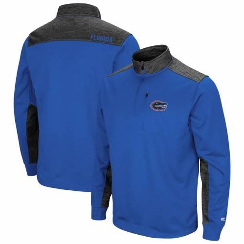 COLOSSEUM フロリダ フリース メンズファッション コート ジャケット メンズ 【 Florida Gators Samir Quarter-zip Fleece Jacket - Royal/charcoal 】 Royal/charcoal