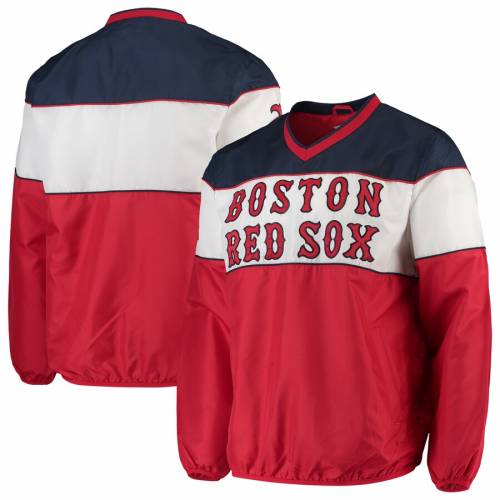 G-III SPORTS BY CARL BANKS ボストン 赤 レッド ブイネック メンズファッション コート ジャケット メンズ 【 Boston Red Sox First Class V-neck Pullover Jacket - Red 】 Red