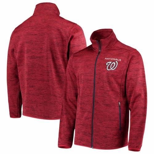 G-III SPORTS BY CARL BANKS ワシントン ナショナルズ ハイ 赤 レッド メンズファッション コート ジャケット メンズ 【 Washington Nationals High Jump Transitional Full-zip Jacket - Red 】 Red