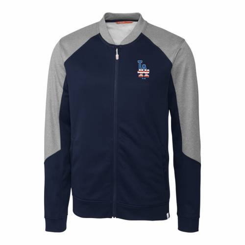 CUTTER & BUCK ドジャース 紺 ネイビー メンズファッション コート ジャケット メンズ 【 Los Angeles Dodgers Cutter And Buck Stars And Stripes Pop Fly Full-zip Jacket - Navy 】 Navy