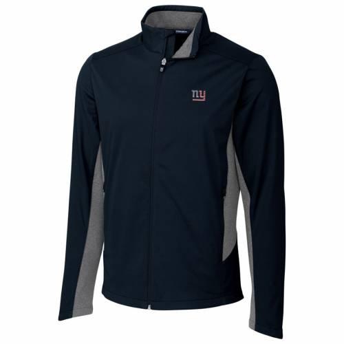 CUTTER & BUCK ジャイアンツ 紺 ネイビー メンズファッション コート ジャケット メンズ 【 New York Giants Cutter And Buck Americana Navigate Softshell Full-zip Jacket - Navy 】 Navy