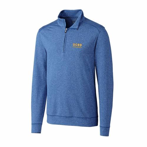 CUTTER & BUCK ヘザー メンズファッション コート ジャケット メンズ 【 Cutter And Buck Heather Royal Uc Santa Barbara Gauchos Big And Tall Shoreline Half-zip Jacket 】 Zip Jacket
