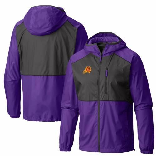コロンビア COLUMBIA フェニックス サンズ ウィンドブレーカー 紫 パープル メンズファッション コート ジャケット メンズ 【 Phoenix Suns Flash Forward Full-zip Windbreaker Jacket - Purple 】 Purple