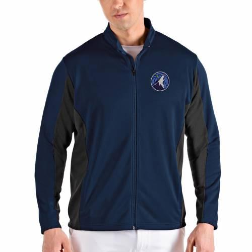 ANTIGUA ミネソタ ティンバーウルブズ メンズファッション コート ジャケット メンズ 【 Minnesota Timberwolves Passage Full-zip Jacket - Navy/gray 】 Navy/gray