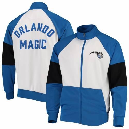 G-III SPORTS BY CARL BANKS オーランド マジック ウォーム トラック メンズファッション コート ジャケット メンズ 【 Orlando Magic Warm Up Colorblock Full-zip Track Jacket - Blue/white 】 Blue/white