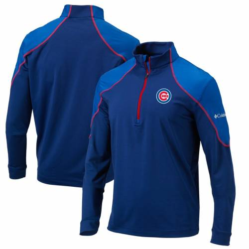 コロンビア COLUMBIA シカゴ カブス 青 ブルー メンズファッション コート ジャケット メンズ 【 Chicago Cubs Omni-wick Panel 1/4-zip Pullover Jacket - Blue 】 Blue