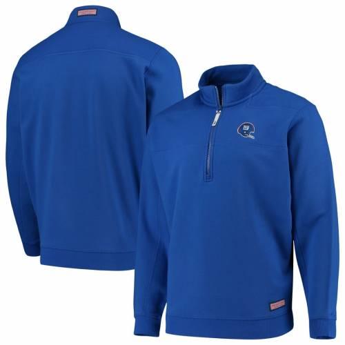 VINEYARD VINES ジャイアンツ メンズファッション コート ジャケット メンズ 【 New York Giants Collegiate Throwback Shep Shirt Quarter-zip Jacket - Royal 】 Royal