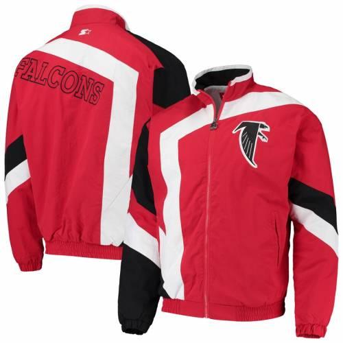 スターター STARTER アトランタ ファルコンズ メンズファッション コート ジャケット メンズ 【 Atlanta Falcons Throwback Star Full-zip Jacket - Red/white 】 Red/white