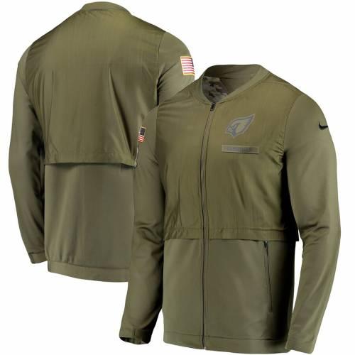 ナイキ NIKE アリゾナ カーディナルス サイドライン エリート ハイブリッド オリーブ メンズファッション コート ジャケット メンズ 【 Arizona Cardinals Salute To Service Sideline Elite Hybrid Full-zip