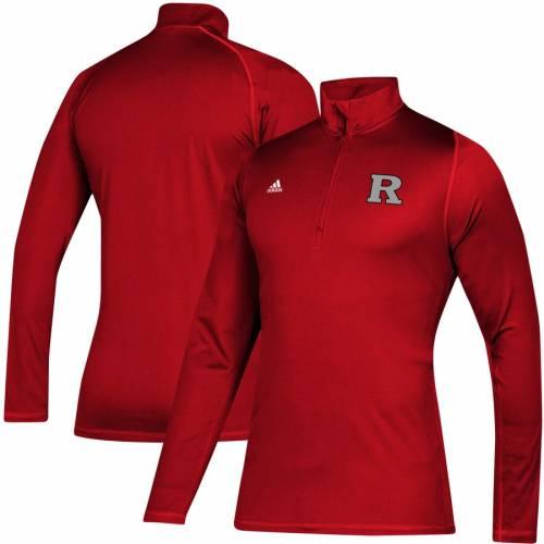 アディダス ADIDAS メンズファッション コート ジャケット メンズ 【 Rutgers Scarlet Knights Freelift Sport Quarter-zip Jacket - Scarlet 】 Scarlet