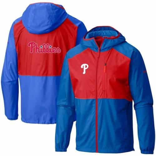 コロンビア COLUMBIA フィラデルフィア フィリーズ チーム ウィンドブレーカー メンズファッション コート ジャケット メンズ 【 Philadelphia Phillies Flash Forward Full-zip Team Windbreaker Jacket - Royal