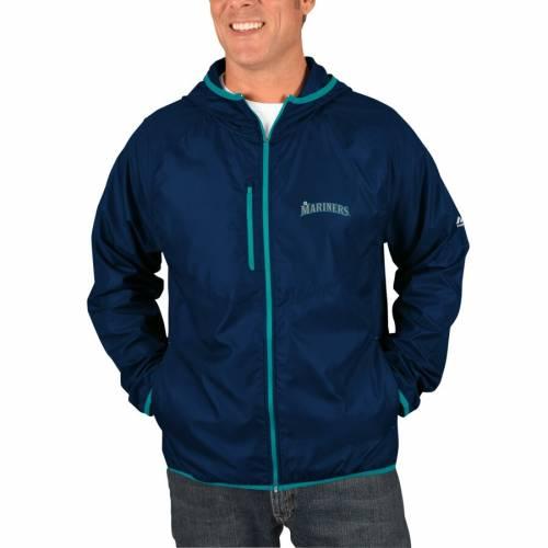 マジェスティック MAJESTIC シアトル マリナーズ チョイス 紺 ネイビー メンズファッション コート ジャケット メンズ 【 Seattle Mariners Weakness Is A Choice Full-zip Jacket - Navy 】 Navy