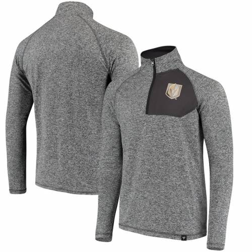 FANATICS BRANDED メンズファッション コート ジャケット メンズ 【 Vegas Golden Knights Static Quarter-zip Jacket - Heathered Gray/black 】 Heathered Gray/black