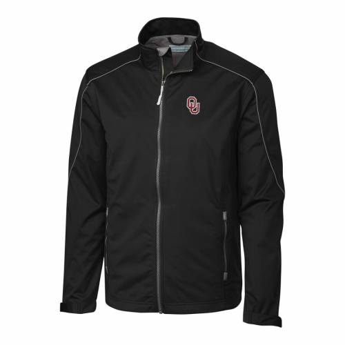 CUTTER & BUCK 黒 ブラック メンズファッション コート ジャケット メンズ 【 Oklahoma Sooners Cutter And Buck Big And Tall Weathertec Opening Day Full Zip Jacket - Black 】 Black